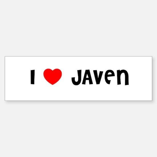 I LOVE JAVEN Bumper Car Car Sticker