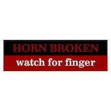 Horn Broken, Watch For Finger - Bumper Car Sticker