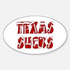 Texas Sucks Oval Decal