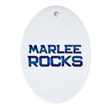 marlee rocks Oval Ornament