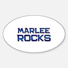 marlee rocks Oval Decal