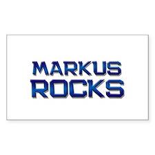 markus rocks Rectangle Decal