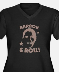 Cute President barack obama occasions Women's Plus Size V-Neck Dark T-Shirt