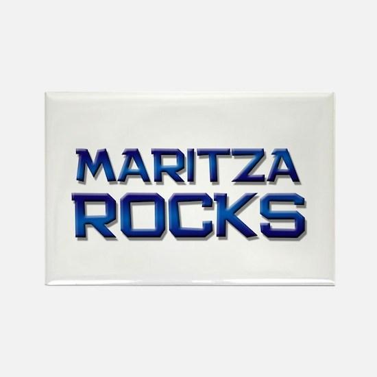maritza rocks Rectangle Magnet