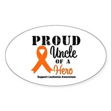 ProudUncleLeukemiaHero Oval Decal