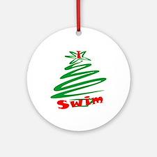 I Swim Christmas Ornaments Ornament (Round)