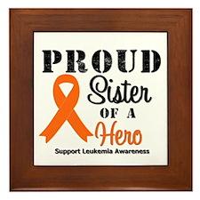 Proud Sister Leukemia Hero Framed Tile