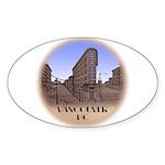 Vancouver BC Souvenir Oval Sticker (50 pk)