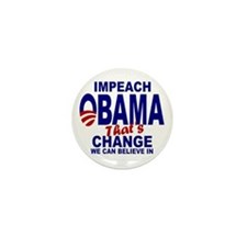 Impeach Obama Mini Button