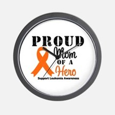 ProudMom Leukemia Hero Wall Clock