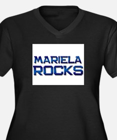 mariela rocks Women's Plus Size V-Neck Dark T-Shir
