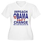 Impeach Obama Women's Plus Size V-Neck T-Shirt