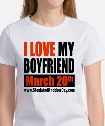 I Love My Boyfriend - Celebra Women's T-Shirt