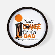 I Wear Orange For My Dad 9 KC Wall Clock
