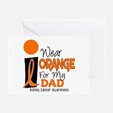 I Wear Orange For My Dad 9 KC Greeting Card