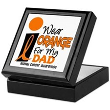 I Wear Orange For My Dad 9 KC Keepsake Box