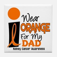 I Wear Orange For My Dad 9 KC Tile Coaster