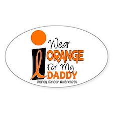 I Wear Orange For My Daddy 9 KC Oval Decal