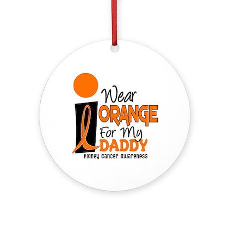 I Wear Orange For My Daddy 9 KC Ornament (Round)