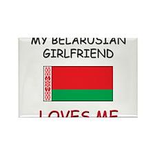 My Belarusian Girlfriend Loves Me Rectangle Magnet