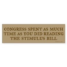 Congress & Stimulus Bumper Bumper Sticker
