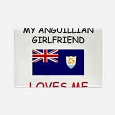 My Anguillian Girlfriend Loves Me Rectangle Magnet