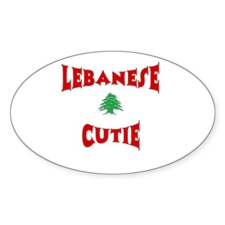 Lebanese Cutie Oval Sticker