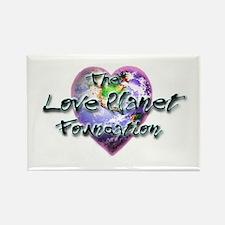 Love Planet Rectangle Magnet
