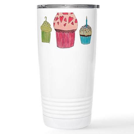 Cupcake Collection Stainless Steel Travel Mug