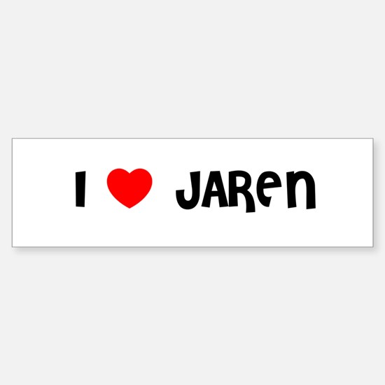 I LOVE JAREN Bumper Car Car Sticker