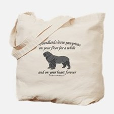 Newfoundland Pawprints Tote Bag