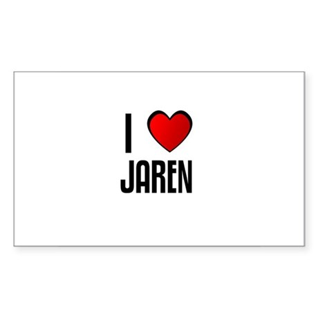 I LOVE JAREN Rectangle Sticker