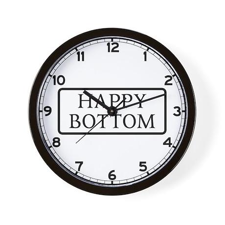 Happy Bottom, Dorset, UK Wall Clock