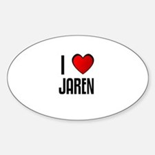 I LOVE JAREN Oval Decal