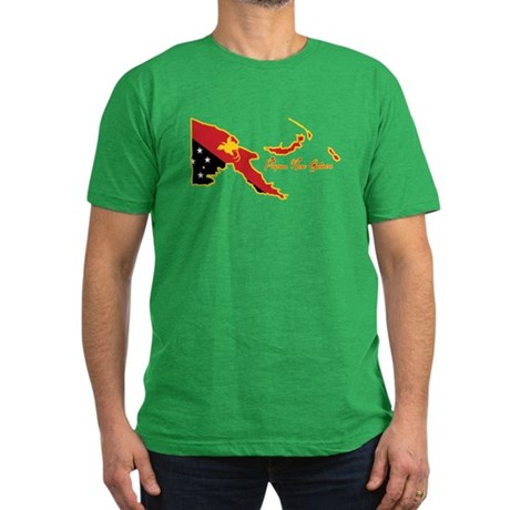 Cool Papua New Guinea Men's Fitted T-Shirt (dark)