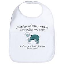 Sheepdog Pawprints Bib