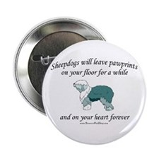 """Sheepdog Pawprints 2.25"""" Button"""