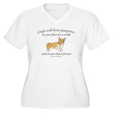 Corgi Pawprints T-Shirt