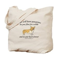 Corgi Pawprints Tote Bag