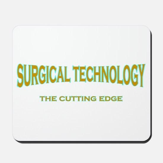 Surgical Technology - blue/br Mousepad