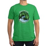 Envision Whirled Peas Men's Fitted T-Shirt (dark)
