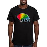 Rainbow Peace Men's Fitted T-Shirt (dark)
