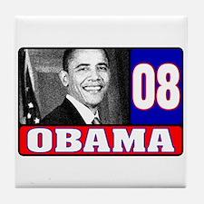 Obama in 2008 Tile Coaster