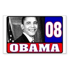 Obama in 2008 Rectangle Decal