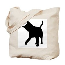 Black Kitten Silhouette Tote Bag