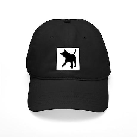 Black Kitten Silhouette Black Cap