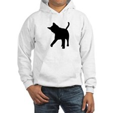 Black Kitten Silhouette Hoodie