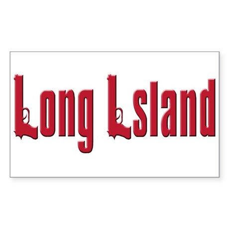 Long Island, New York Rectangle Sticker