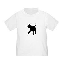 Black Kitten Silhouette T