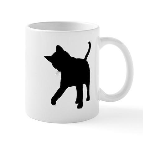 Black Kitten Silhouette Mug